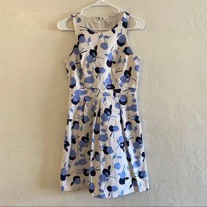 GAP Blue & White Print Floral Print Sheath Dress 2